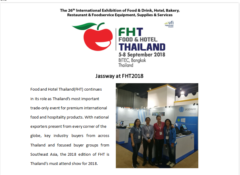 Jassway at FHT 2018